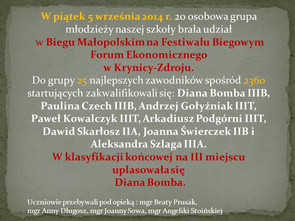 9 stycznia 2015 roku w ZSP w Krynicy- Zdroju odbyły się Powiatowe Mistrzostwa Szkół Ponadgimnazjalnych w Koszykówce Dziewcząt.
