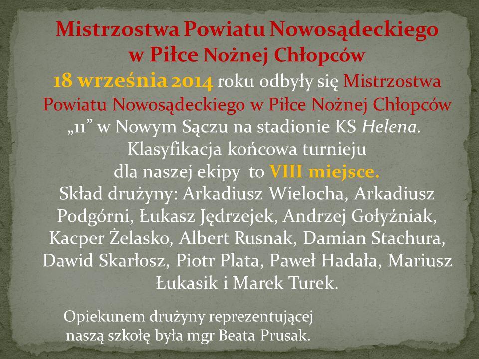 Dnia 21 maja 2015 na stadionie w Nawojowej odbyła się Powiatowa Licealiada Młodzieży Szkolnej w Lekkiej Atletyce Dziewcząt i Chłopców.