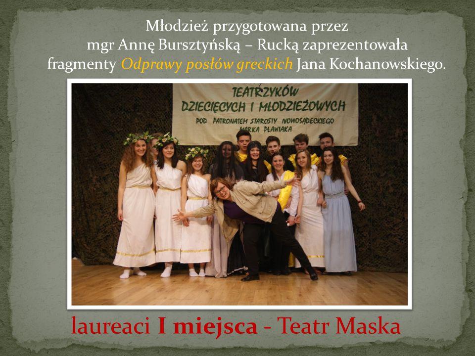 Młodzież przygotowana przez mgr Annę Bursztyńską – Rucką zaprezentowała fragmenty Odprawy posłów greckich Jana Kochanowskiego.