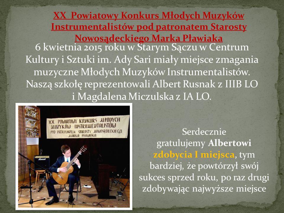6 kwietnia 2015 roku w Starym Sączu w Centrum Kultury i Sztuki im.