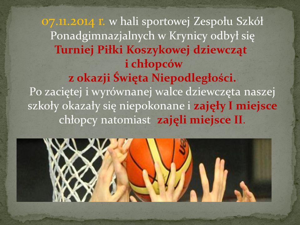 Powiatowy Zespół Szkół reprezentowali Dziewczęta: 1.