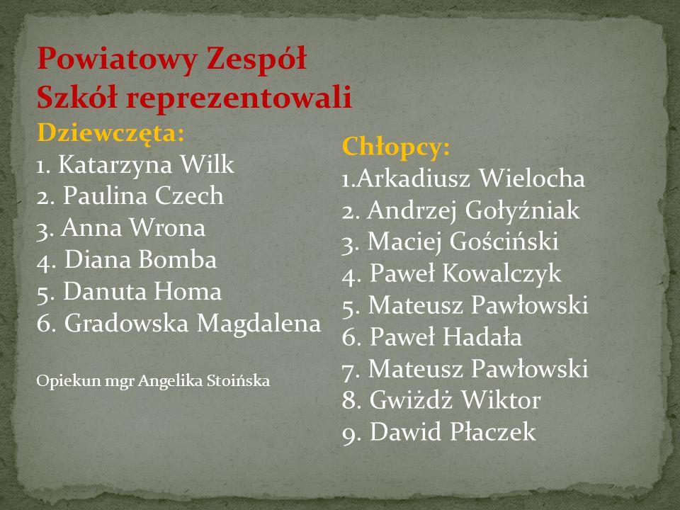 wyróżnienia bez kwalifikacji Izabela Wilas przygotowana przez p. Monikę Fabisiak.