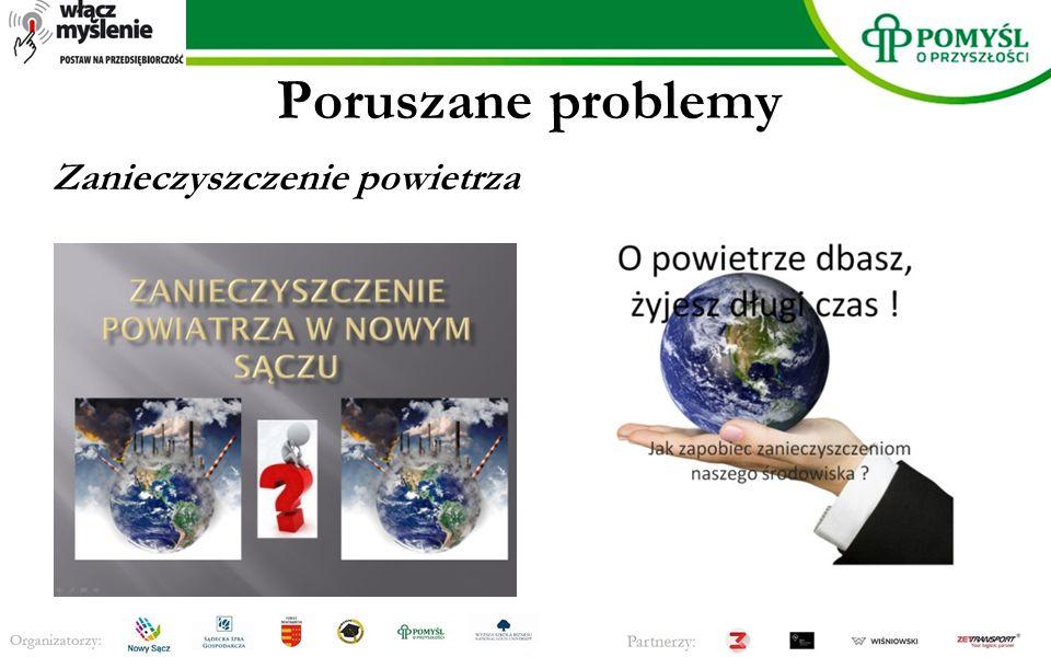 Poruszane problemy Zanieczyszczenie powietrza