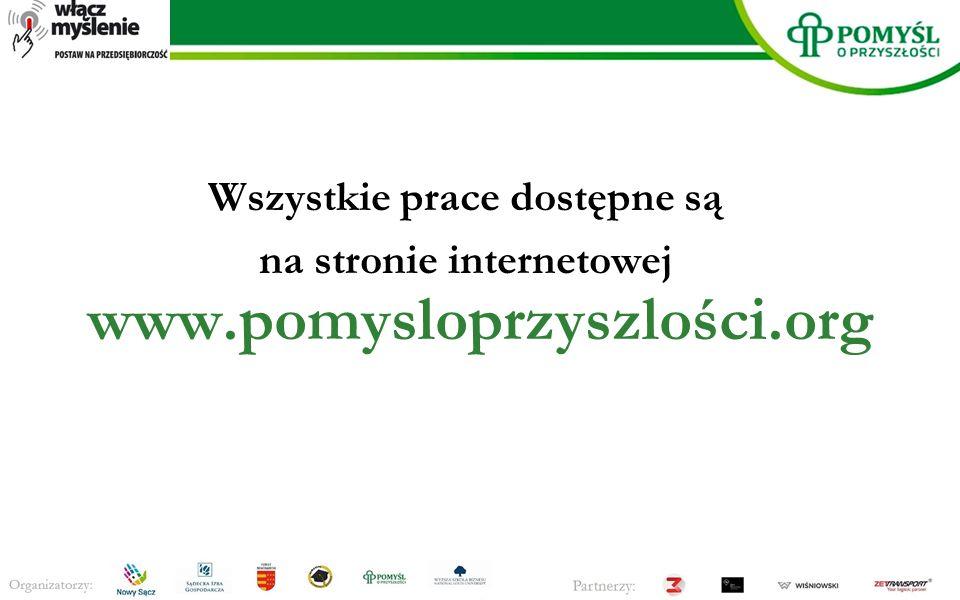 Wszystkie prace dostępne są na stronie internetowej www.pomysloprzyszlości.org