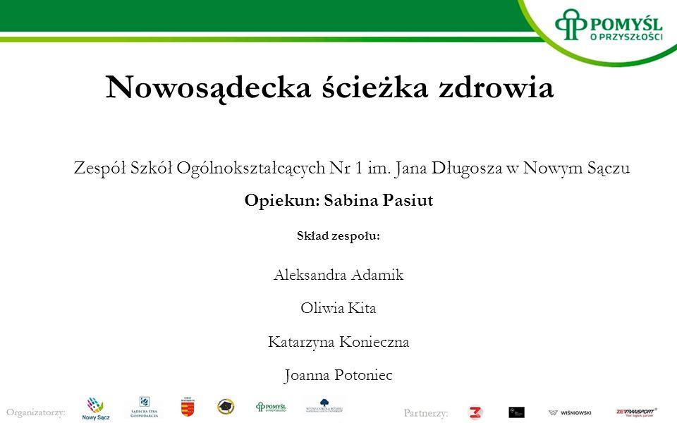 Nowosądecka ścieżka zdrowia Zespół Szkół Ogólnokształcących Nr 1 im.