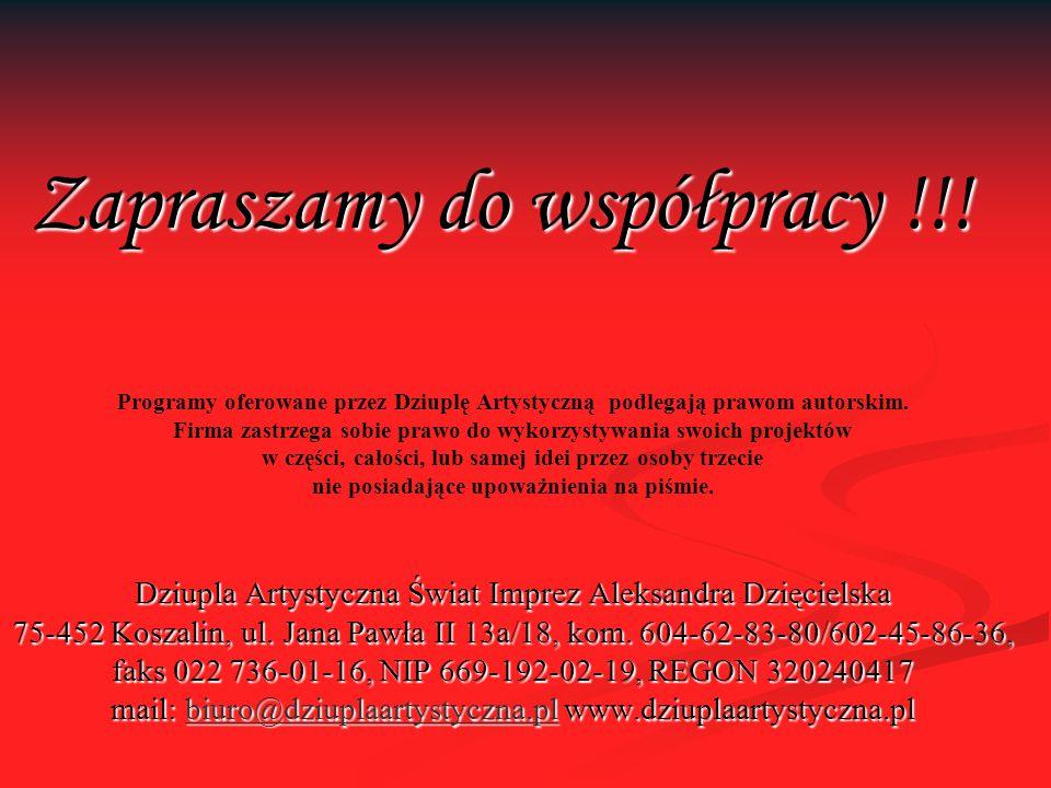 Zapraszamy do współpracy !!.