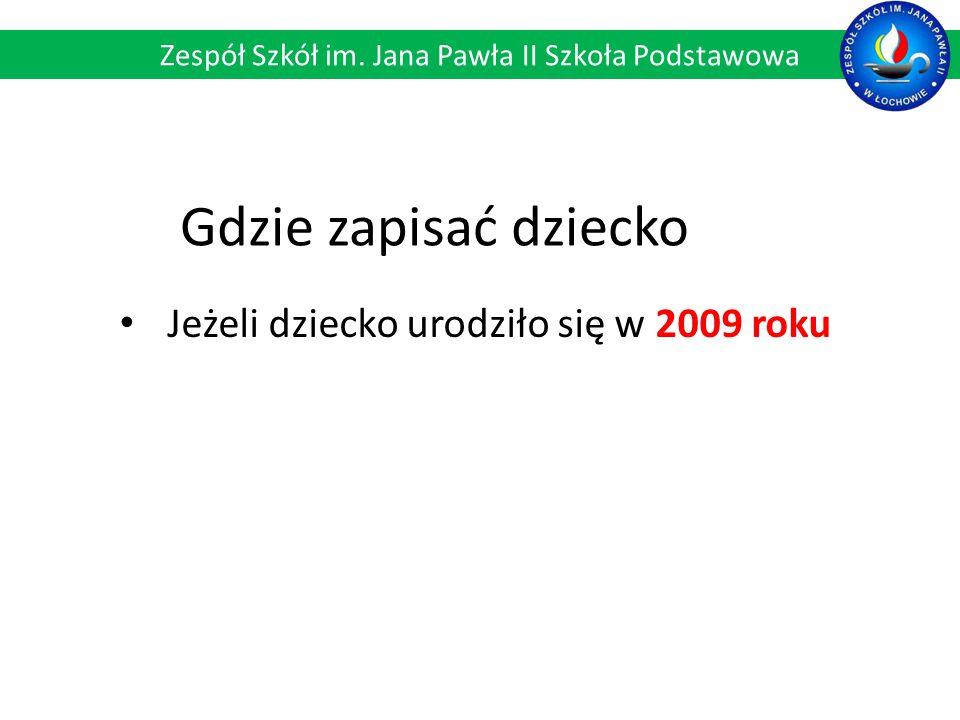 Przydział sal: Zespół Szkół im. Jana Pawła II Szkoła Podstawowa