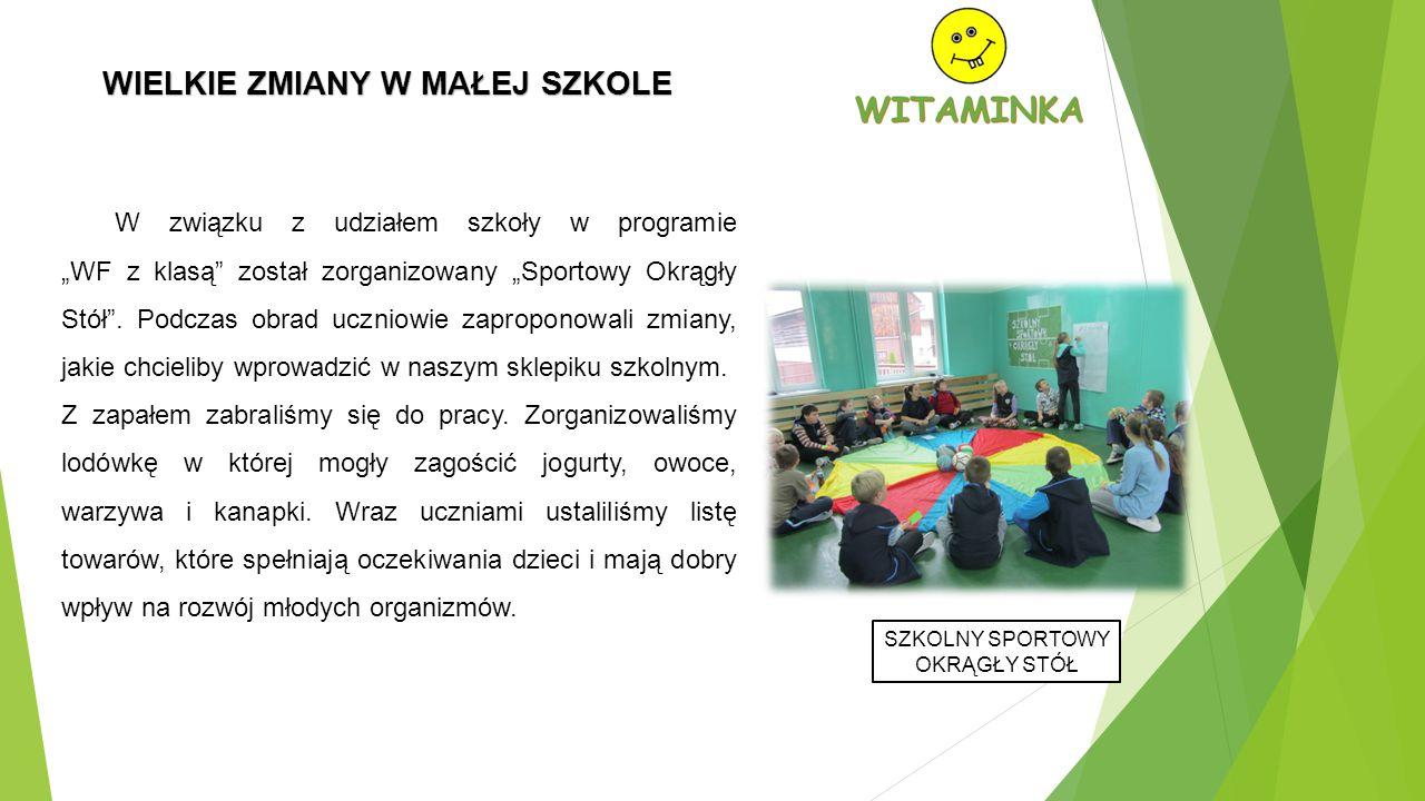 """W związku z udziałem szkoły w programie """"WF z klasą został zorganizowany """"Sportowy Okrągły Stół ."""