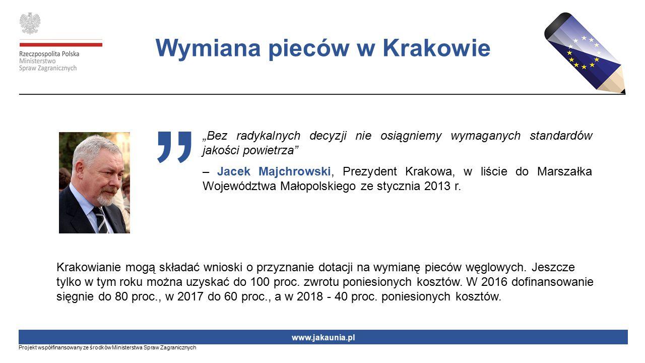"""""""Bez radykalnych decyzji nie osiągniemy wymaganych standardów jakości powietrza"""" – Jacek Majchrowski, Prezydent Krakowa, w liście do Marszałka Wojewód"""