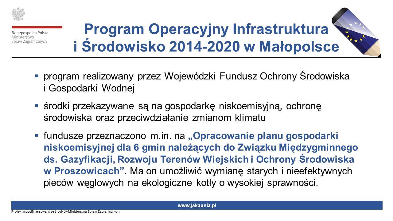  program realizowany przez Wojewódzki Fundusz Ochrony Środowiska i Gospodarki Wodnej  środki przekazywane są na gospodarkę niskoemisyjną, ochronę śr