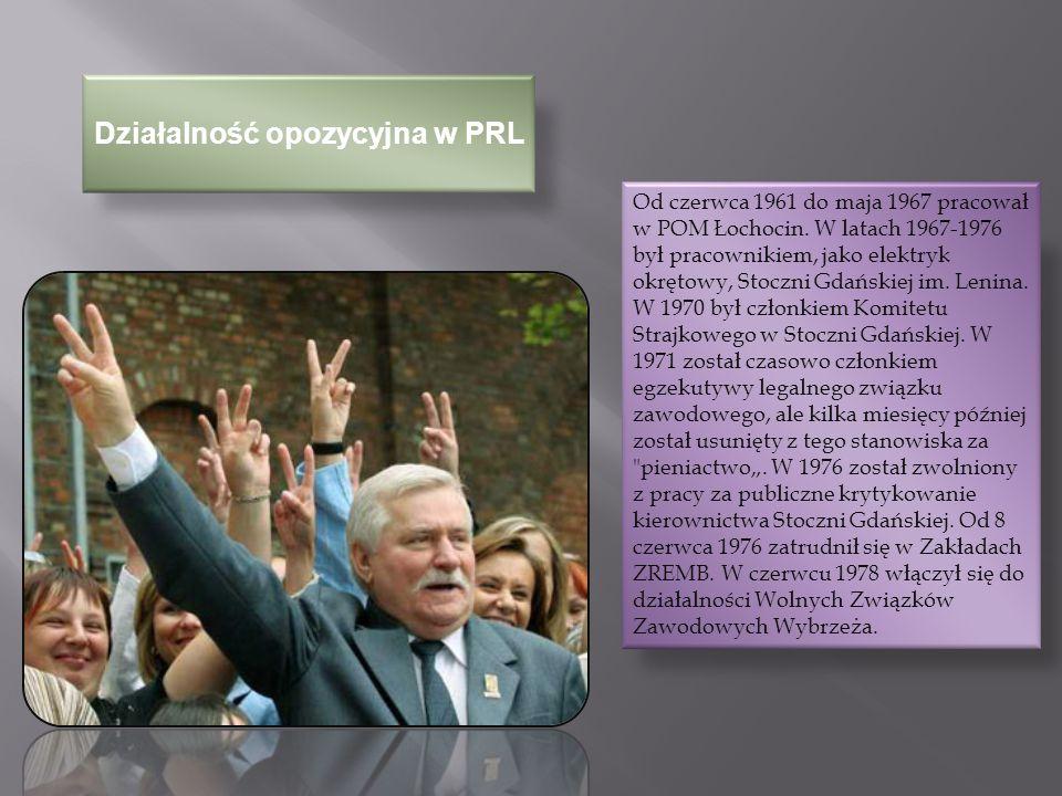 Porozumienia sierpniowe i NSZZ W sierpniu 1980 Lech Wałęsa był jednym z organizatorów i przywódców strajku w Stoczni Gdańskiej.