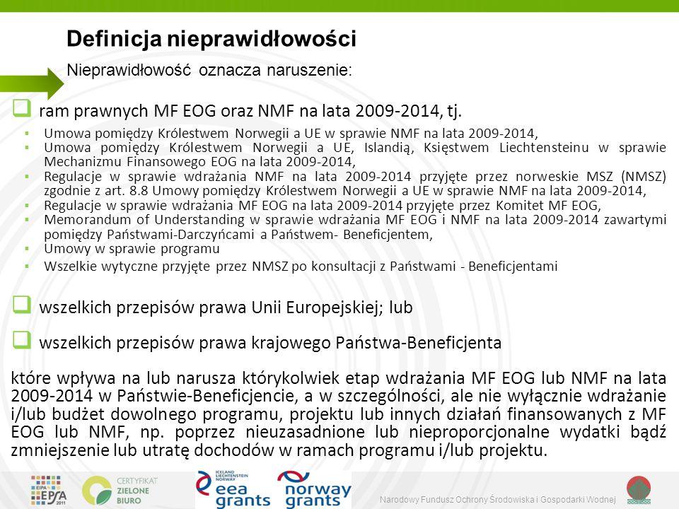 Narodowy Fundusz Ochrony Środowiska i Gospodarki Wodnej  ram prawnych MF EOG oraz NMF na lata 2009-2014, tj.