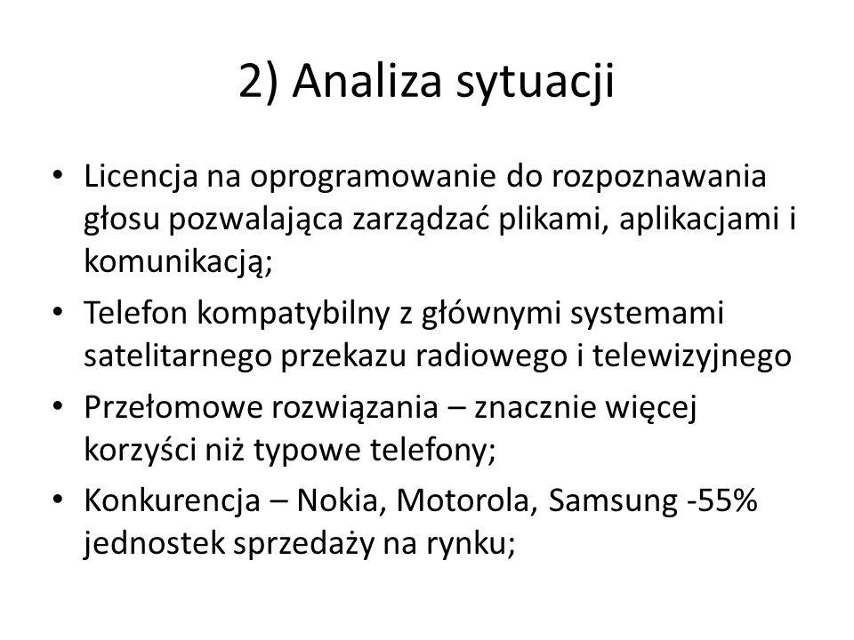 2) Analiza sytuacji Licencja na oprogramowanie do rozpoznawania głosu pozwalająca zarządzać plikami, aplikacjami i komunikacją; Telefon kompatybilny z