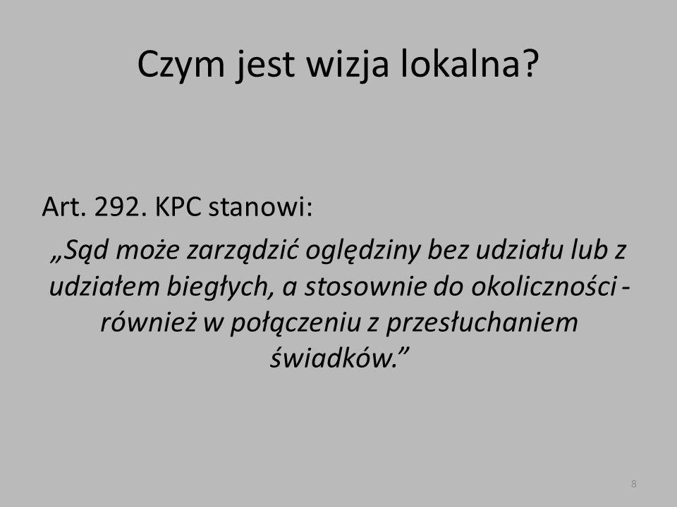 Czym jest wizja lokalna.Art. 292.