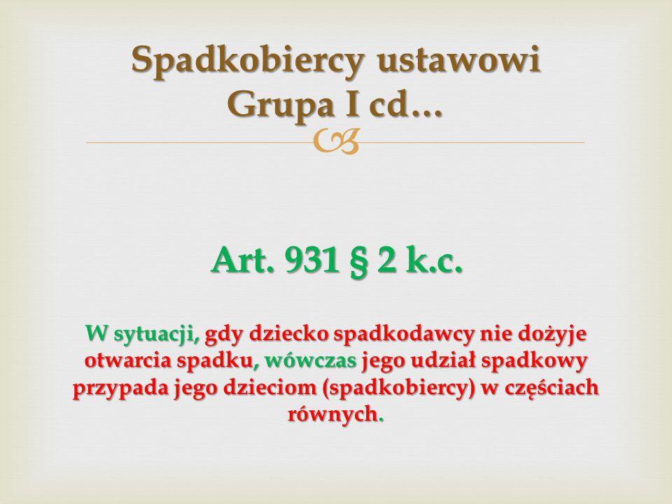  Art.931 § 1 k.c.