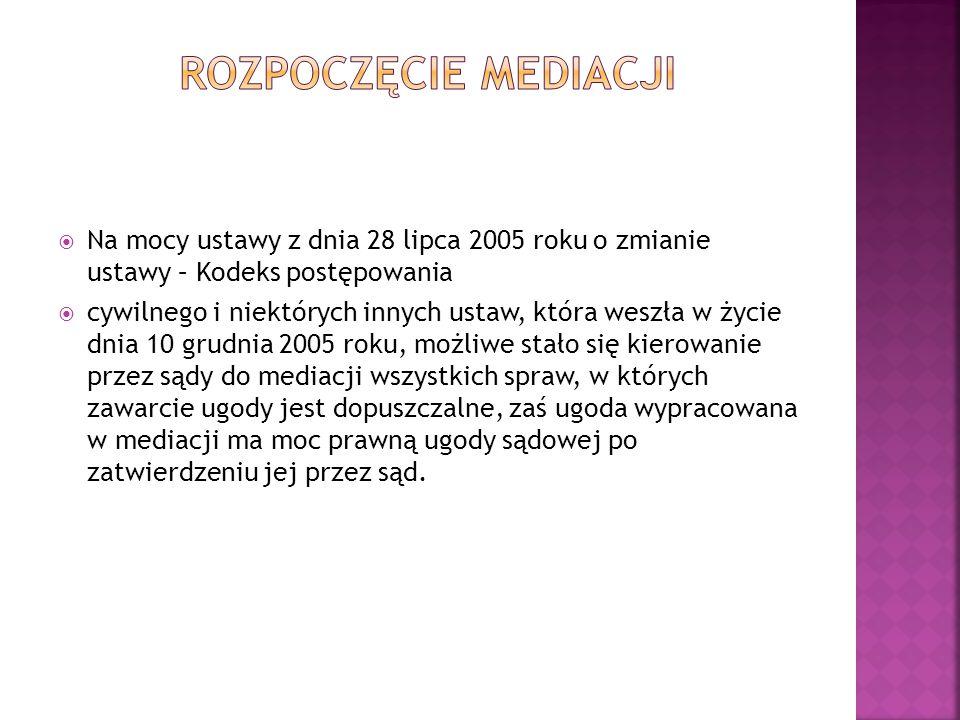  A.Gójska, Mediacja w sprawach rodzinnych, Ministerstwo Sprawiedliwość, Warszawa 2009.