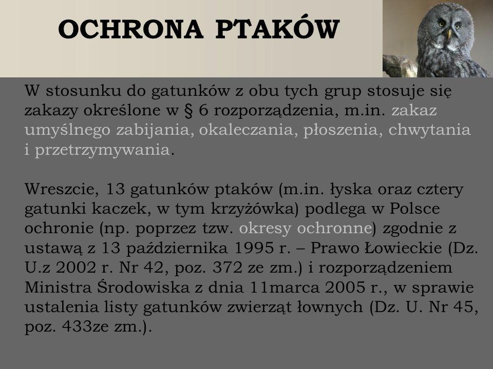 PRAWO  ochronie na podstawie Ustawy o Ochronie Przyrody (Dz.