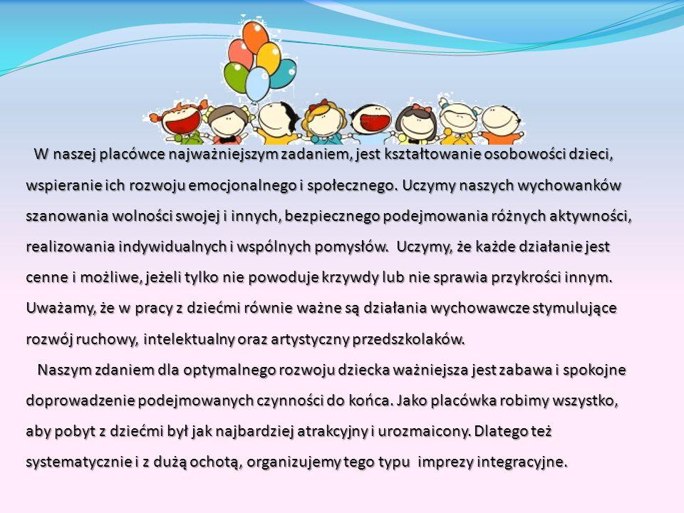 Wpływ na dzieci Spotkania integracyjne, które organizujemy od 7 lat są bardzo potrzebne, twórcze i rozwojowe.