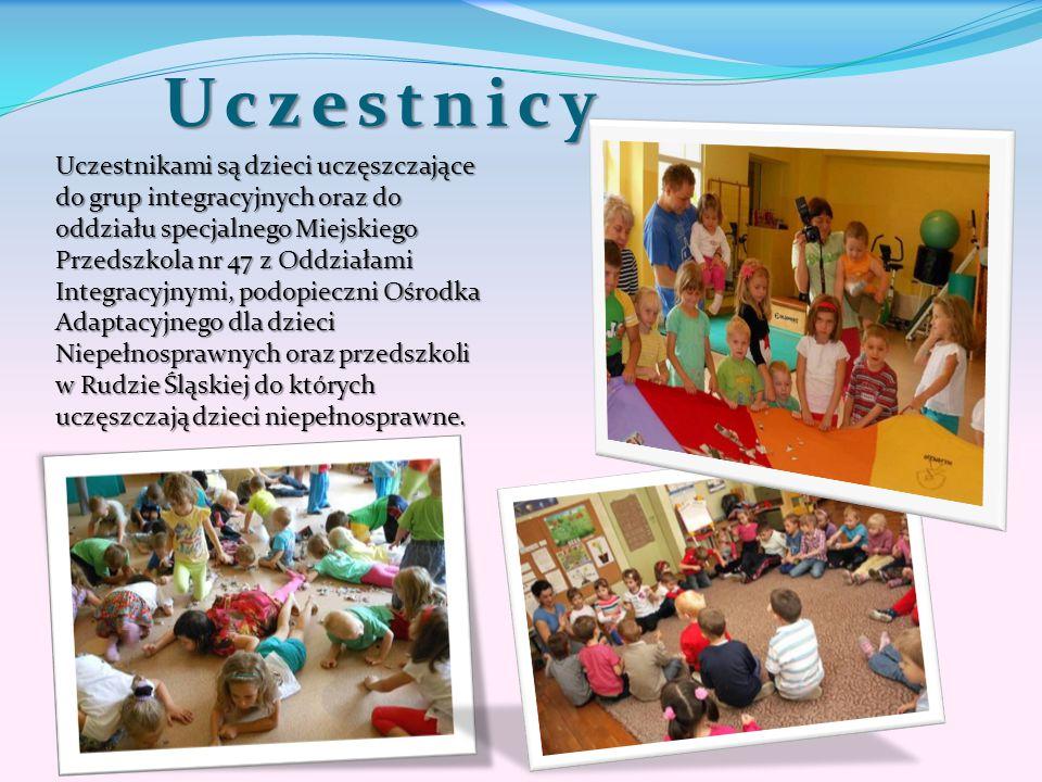 Uczestnicy Uczestnikami są dzieci uczęszczające do grup integracyjnych oraz do oddziału specjalnego Miejskiego Przedszkola nr 47 z Oddziałami Integrac