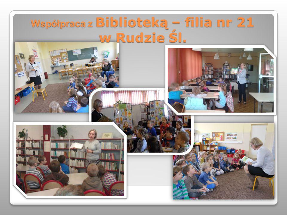 Współpraca z Biblioteką – filia nr 21 w Rudzie Śl.