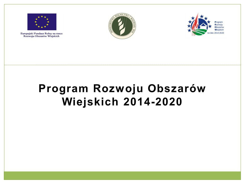 Gospodarka wodno-ściekowa Kwota wsparcia: Wysokość pomocy ze środków EFRROW nie może przekroczyć 2 000 000 zł na beneficjenta w okresie realizacji Programu.