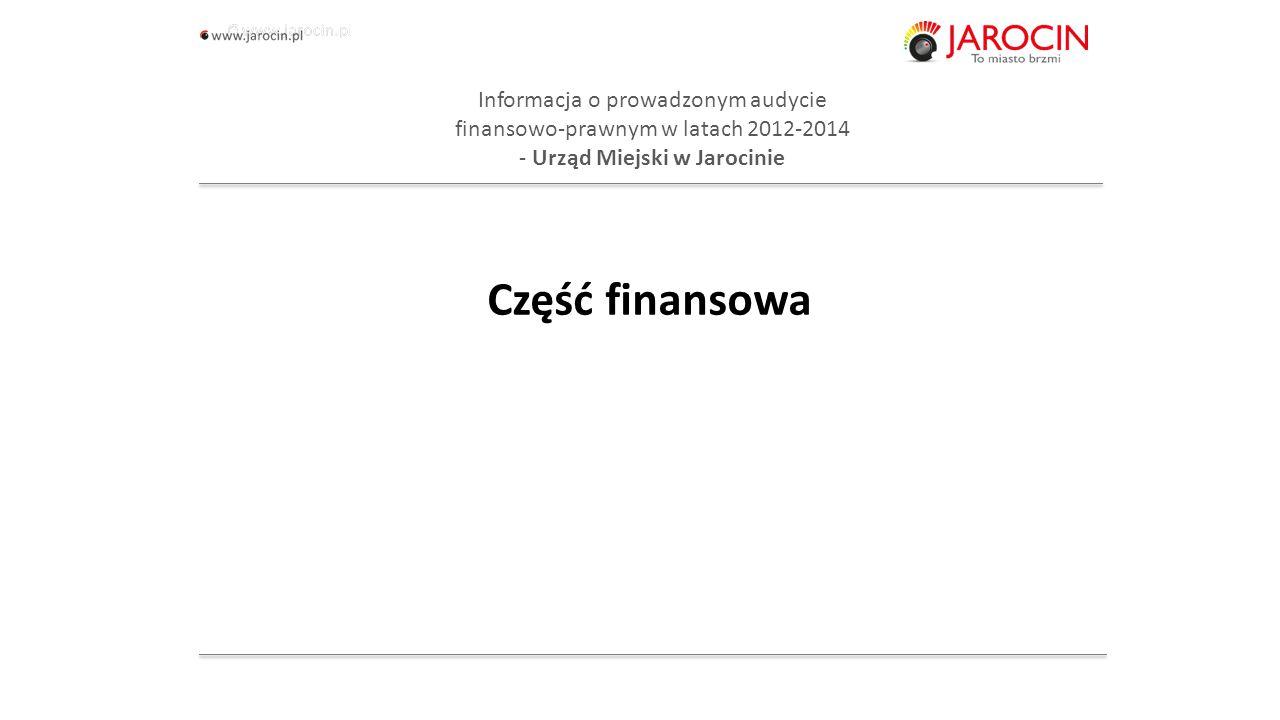 10.10.2020_jarocin Informacja o prowadzonym audycie finansowo-prawnym w latach 2012-2014 - część finansowa Nieprawidłowości w zakresie: sprawozdawczości finansowej (bilans z wykonania budżetu za 2012 i 2013 oraz w rachunku zysków i strat za 2012 i 2013), sprawozdań budżetowych za 2013 r., prowadzonej przez Urząd Miejski inwentaryzacji w latach 2012 i 2013, prowadzonych ksiąg rachunkowych i ewidencji księgowej, obejmujące w szczególności: - dokonywanie odpisów aktualizujących - zakup zestawów komputerowych i notebooków