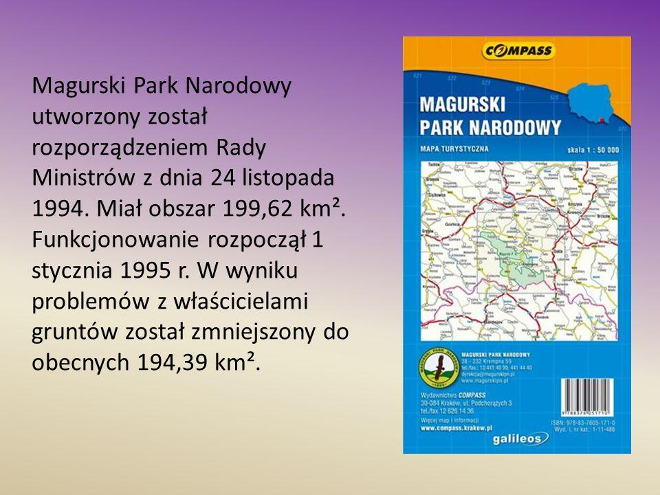 Magurski Park Narodowy utworzony został rozporządzeniem Rady Ministrów z dnia 24 listopada 1994. Miał obszar 199,62 km². Funkcjonowanie rozpoczął 1 st