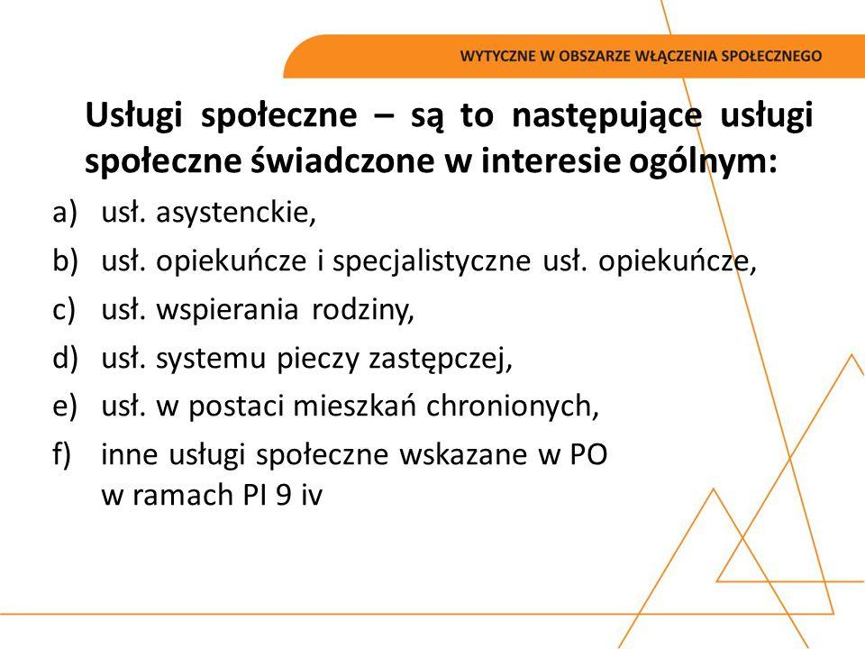 Partnerów projektowych OPS/PCPR w ramach projektów partnerskich; PUP zgodnie z przepisami ustawy z dnia 20 kwietnia 2004 r.