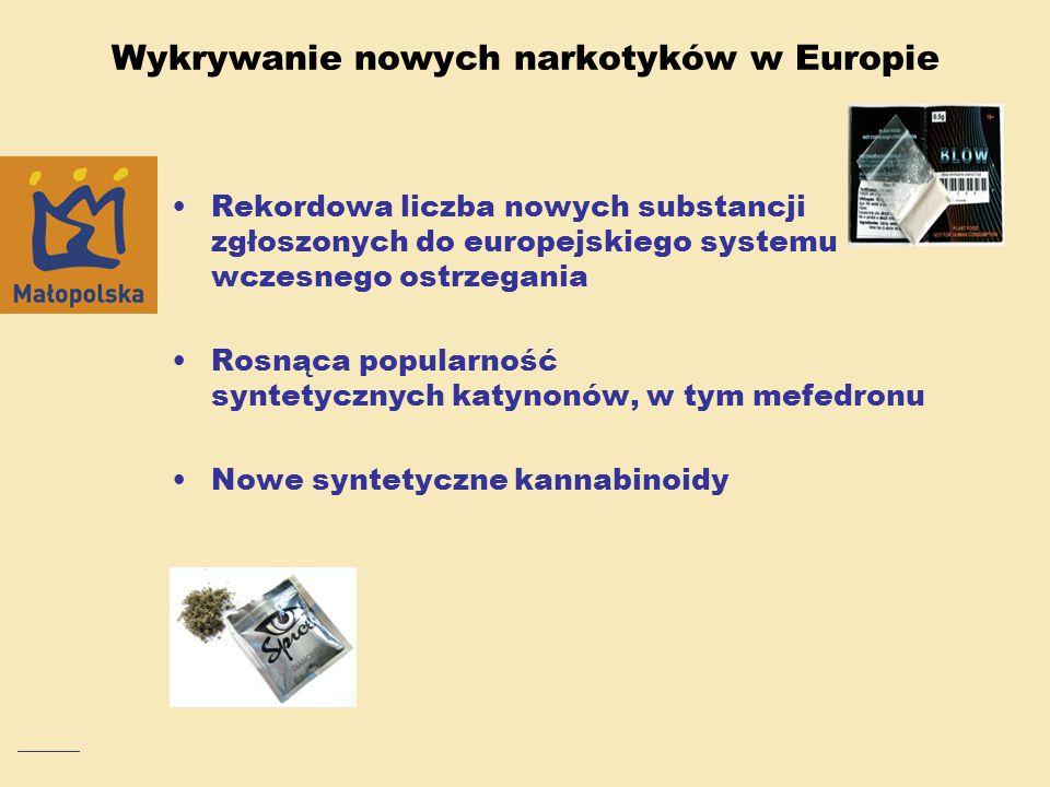 Wykrywanie nowych narkotyków w Europie Rekordowa liczba nowych substancji zgłoszonych do europejskiego systemu wczesnego ostrzegania Rosnąca popularno