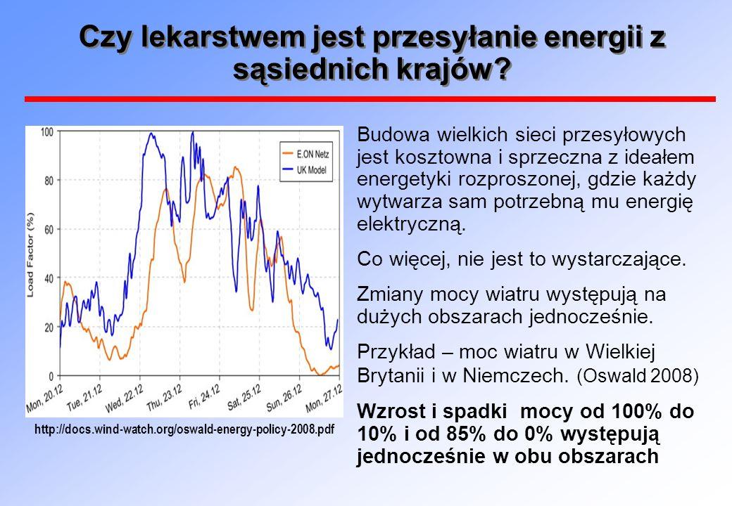 Czy lekarstwem jest przesyłanie energii z sąsiednich krajów? Budowa wielkich sieci przesyłowych jest kosztowna i sprzeczna z ideałem energetyki rozpro