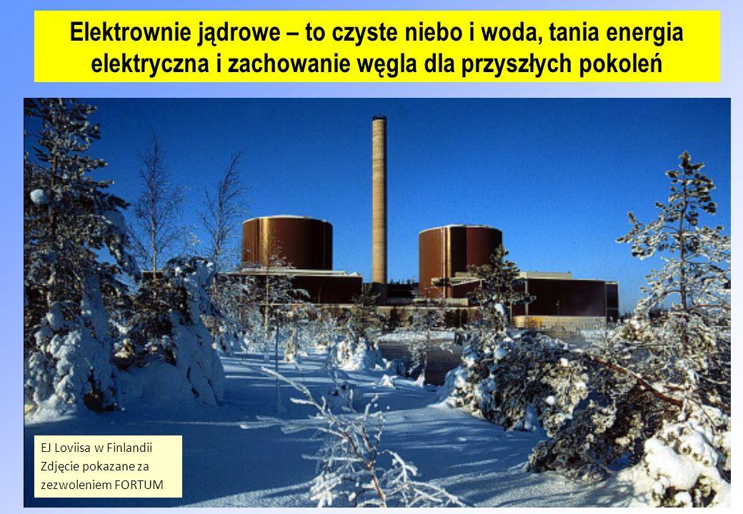 Elektrownie jądrowe – to czyste niebo i woda, tania energia elektryczna i zachowanie węgla dla przyszłych pokoleń EJ Loviisa w Finlandii Zdjęcie pokazane za zezwoleniem FORTUM