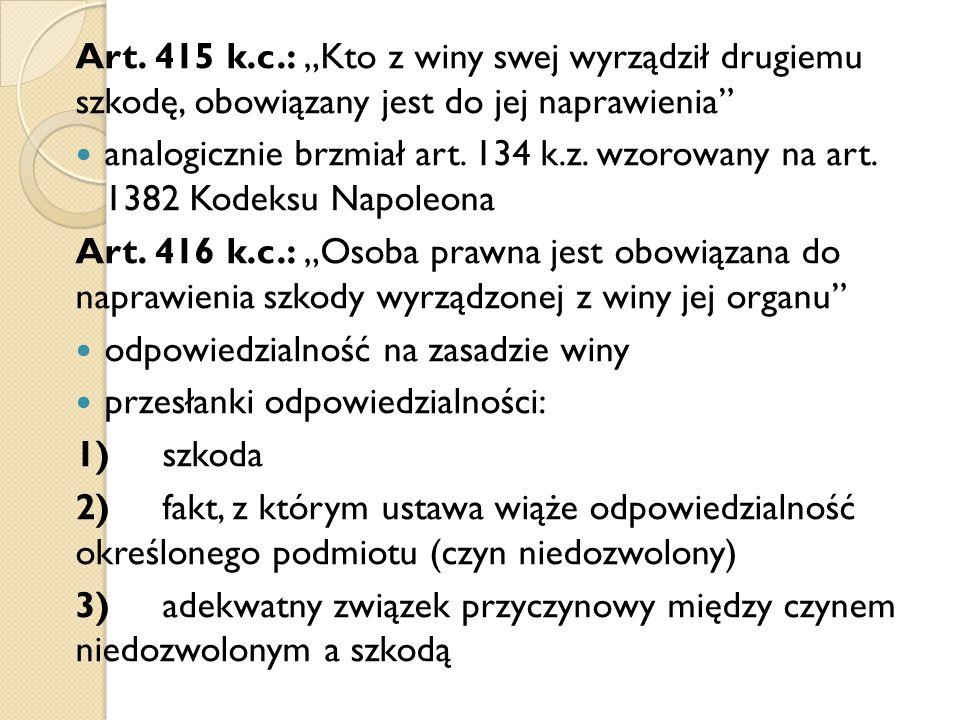 Ad 2) stan wyższej konieczności – art.424 k.c. nazywa się tak sytuację z art.