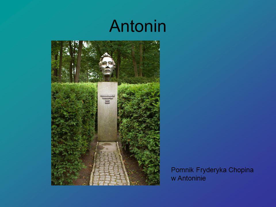 Antonin Pomnik Fryderyka Chopina w Antoninie