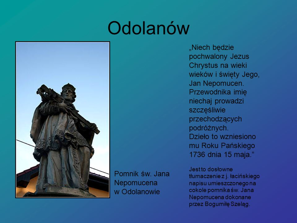 Odolanów Pomnik św.