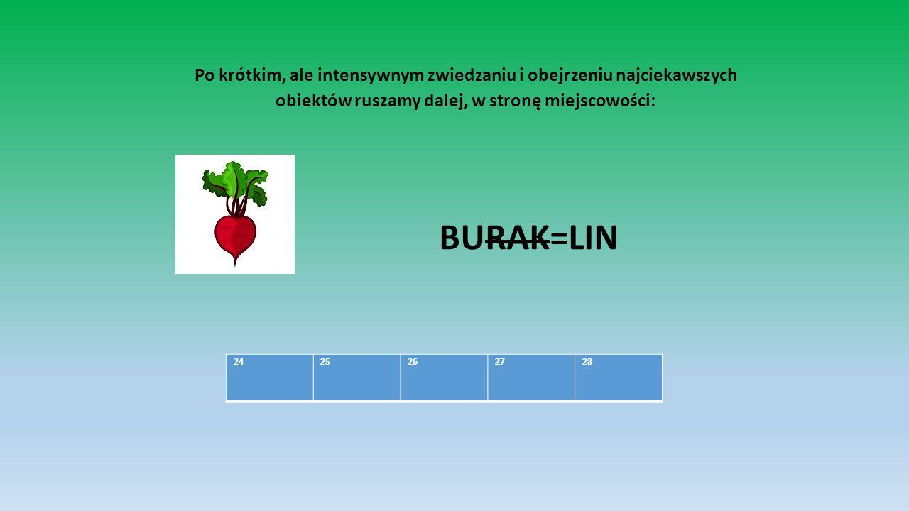 Po krótkim, ale intensywnym zwiedzaniu i obejrzeniu najciekawszych obiektów ruszamy dalej, w stronę miejscowości: BURAK=LIN 24 25 26 27 28