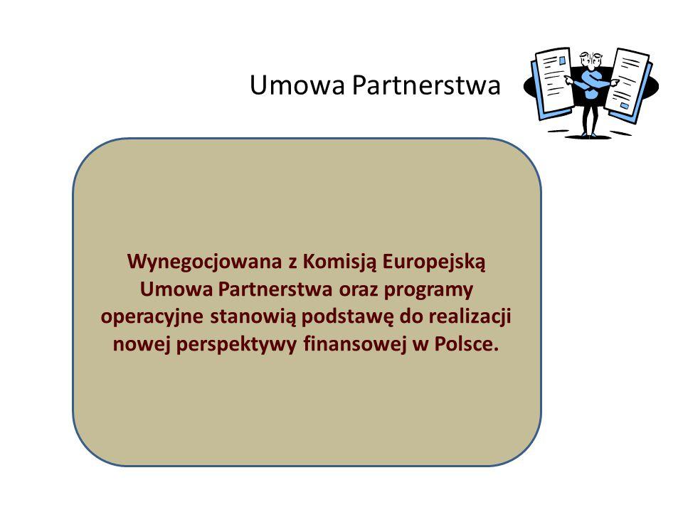 5 Umowa Partnerstwa Wynegocjowana z Komisją Europejską Umowa Partnerstwa oraz programy operacyjne stanowią podstawę do realizacji nowej perspektywy fi