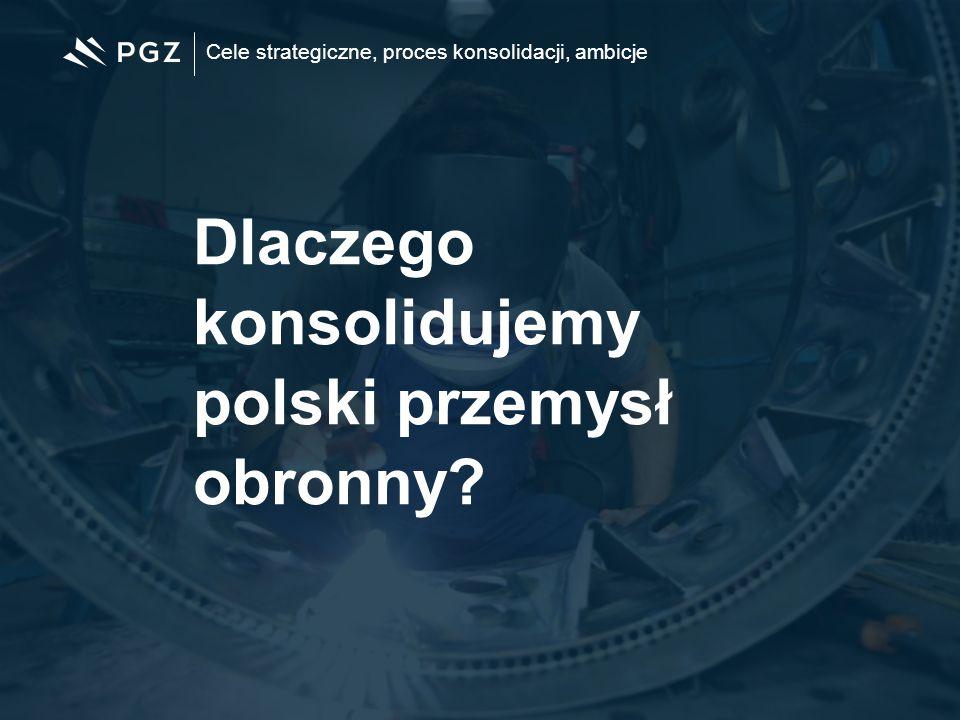 Cele strategiczne, proces konsolidacji, ambicje Dlaczego konsolidujemy polski przemysł obronny?