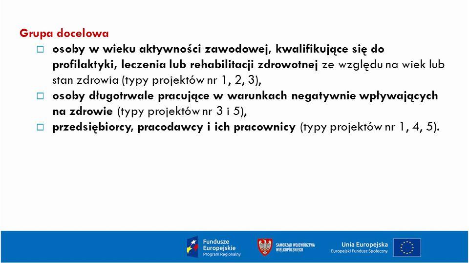 Kryteria dostępu (cd.) Kryterium kompleksowości wsparcia: Udzielanie dotacji powiązane jest każdorazowo z usługami towarzyszącymi przyznawaniu dotacji wynikającymi z Wytycznych w zakresie realizacji przedsięwzięć w obszarze włączenia społecznego i zwalczania ubóstwa z wykorzystaniem środków Europejskiego Funduszu Społecznego i Europejskiego Funduszu Rozwoju Regionalnego na lata 2014-2020.