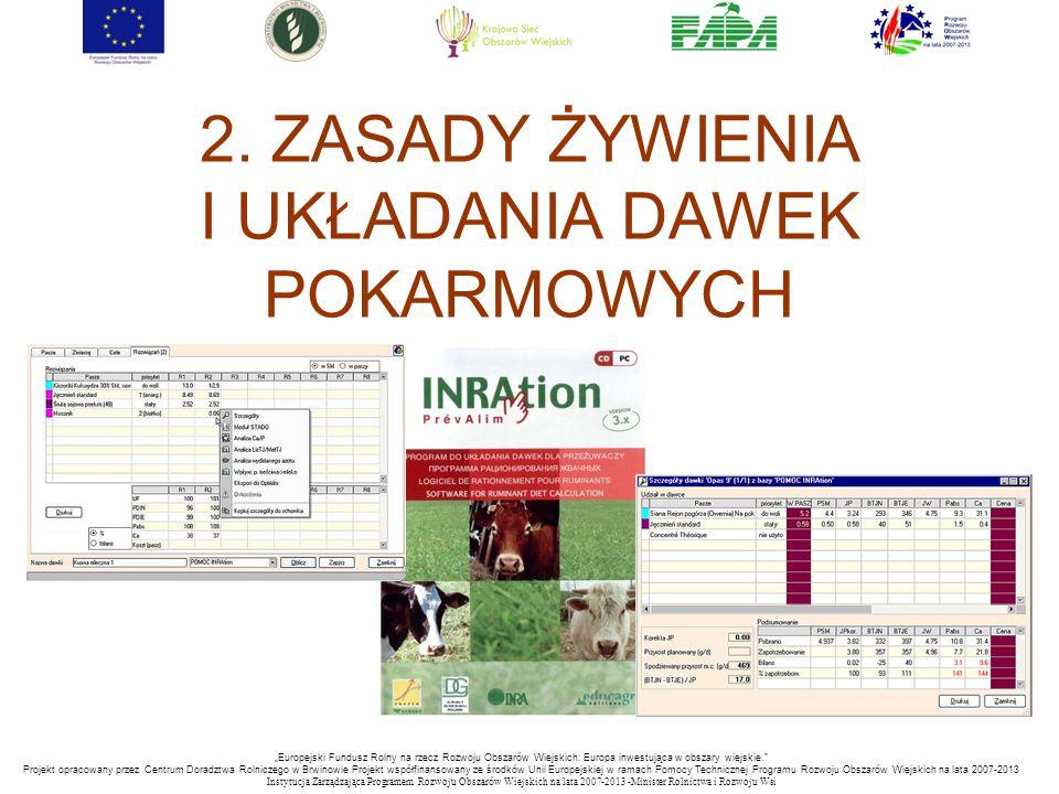 """""""Europejski Fundusz Rolny na rzecz Rozwoju Obszarów Wiejskich: Europa inwestująca w obszary wiejskie. Projekt opracowany przez Centrum Doradztwa Rolniczego w Brwinowie Projekt współfinansowany ze środków Unii Europejskiej w ramach Pomocy Technicznej Programu Rozwoju Obszarów Wiejskich na lata 2007-2013 Instytucja Zarządzająca Programem Rozwoju Obszar ó w Wiejskich na lata 2007-2013 -Minister Rolnictwa i Rozwoju Wsi 2."""