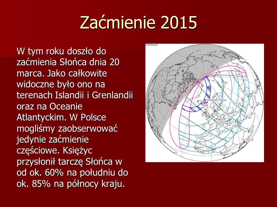 Dzień po zaćmieniu Słońca opracował Jan Stachowiak °C