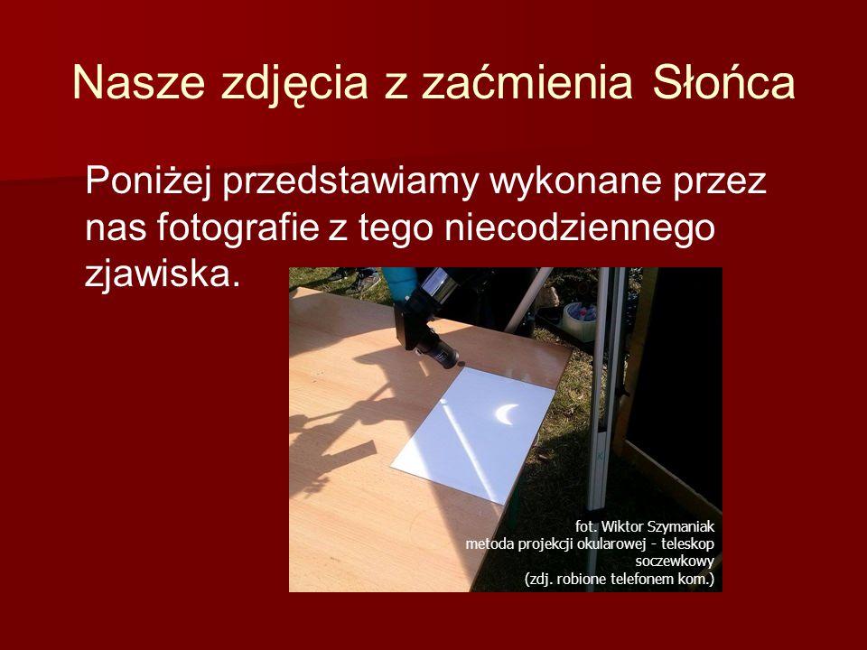 fot.Wiktor Szymaniak metoda projekcji okularowej - teleskop soczewkowy (zdj.