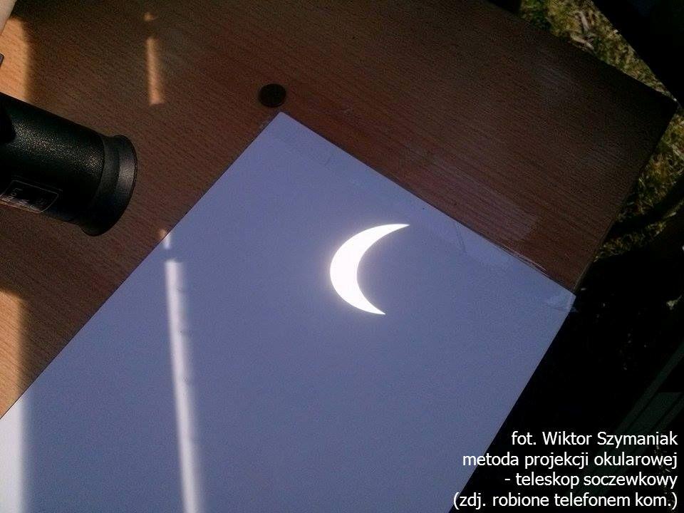 fot. Wiktor Szymaniak metoda projekcji okularowej - teleskop soczewkowy (zdj. robione telefonem kom.)