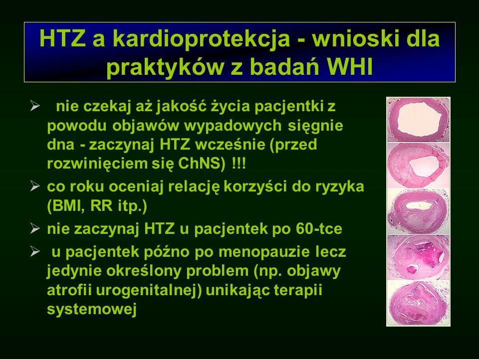 Kardioprotekcja Obecnie uważa się, że HTZ nie jest postępowaniem odpowiednim we wtórnej profilaktyce ChNS.