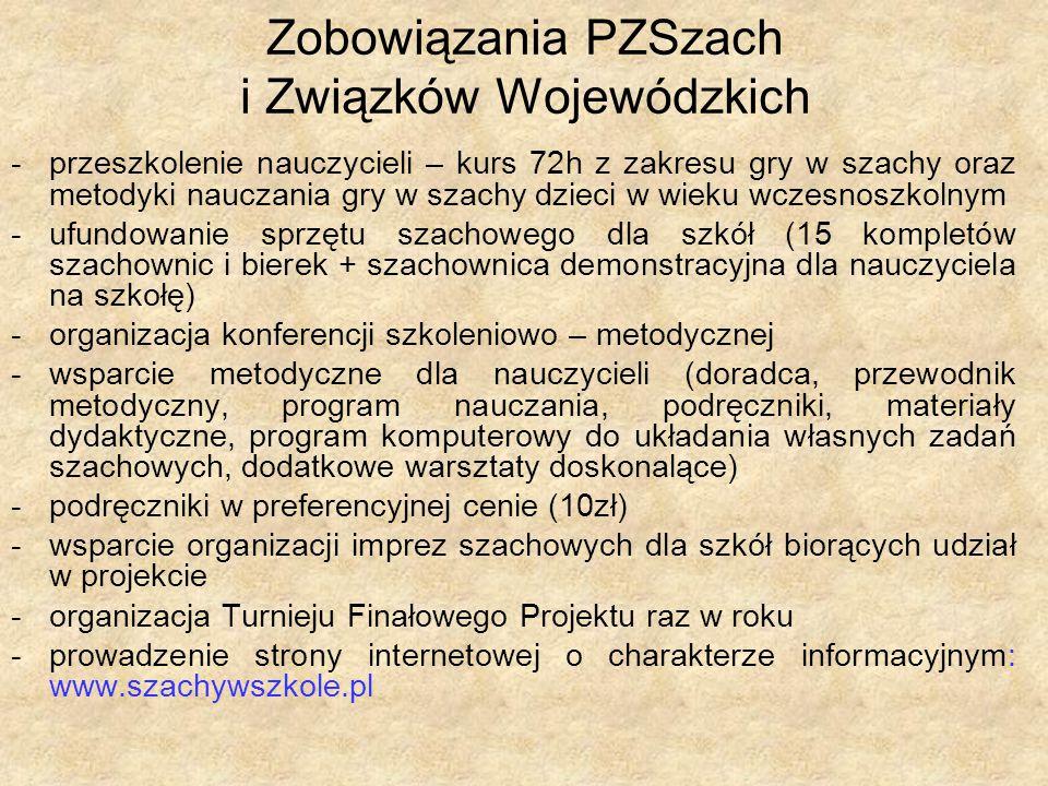 Seria podręczników szkolnych dla najmłodszych, wydana przez PZSzach (kompatybilna z jednym z trzech rekomendowanych przez PZSzach programów nauczania)