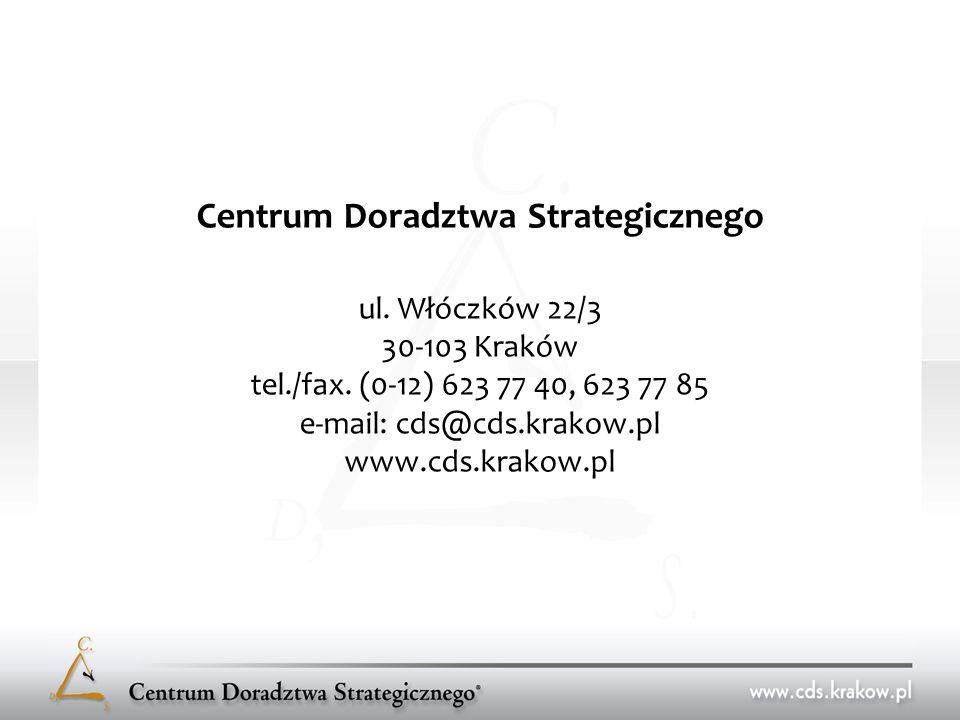 Centrum Doradztwa Strategicznego ul. Włóczków 22/3 30-103 Kraków tel./fax.