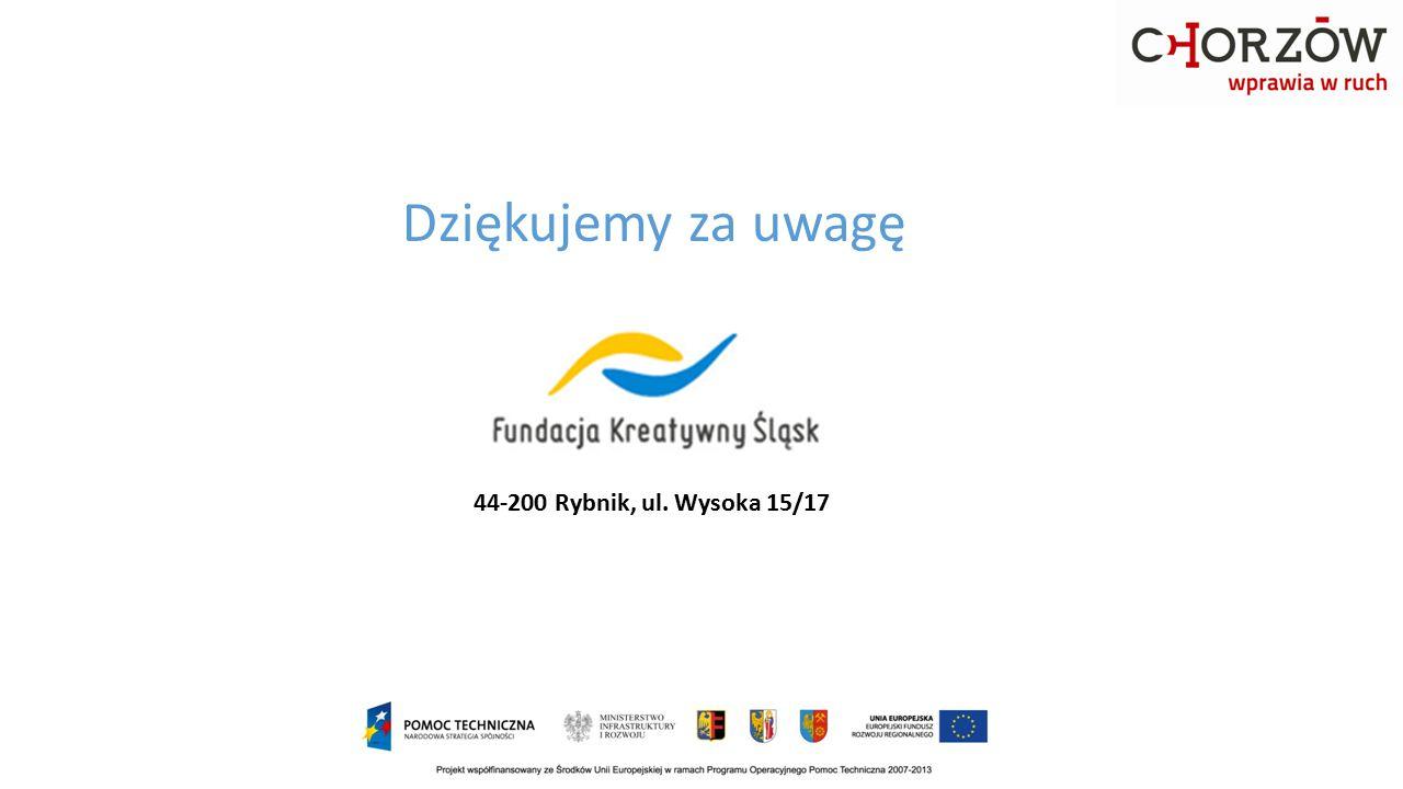 Dziękujemy za uwagę 44-200 Rybnik, ul. Wysoka 15/17