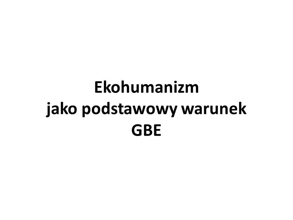 Ekohumanizm jako podstawowy warunek GBE