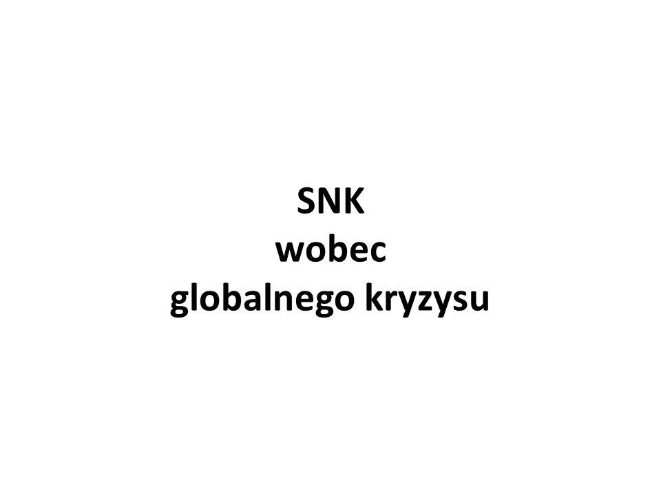 SNK wobec globalnego kryzysu
