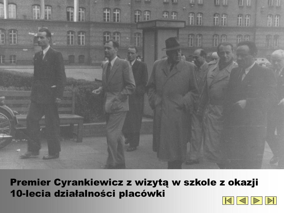 Premier Cyrankiewicz z wizytą w szkole (c.d.)