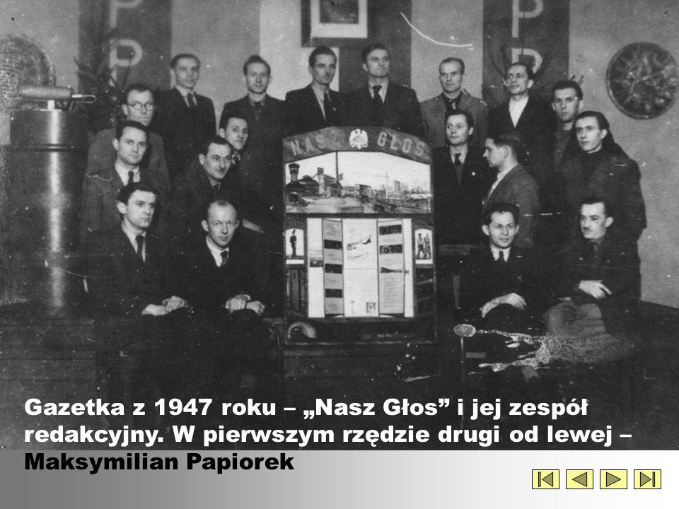 Rok 1949 – dyrektorzy Jan Śpiewak i Ludwik Bander w pokoju nauczycielskim